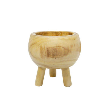 Stoneleigh & Roberson Round Cinch Wood Planter - Small (19cm) | Koop.co.nz
