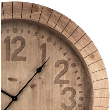 Stoneleigh & Roberson Harry Large Wooden Clock (80cm) | Koop.co.nz