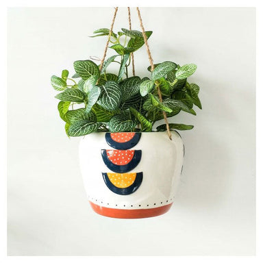 Urban Products Woodstock Rainbow Geo Hanging Planter - Blue/Terracotta | Koop.co.nz