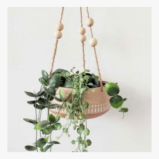 Urban Products Kyra Hanging Bowl Planter - Terracotta | Koop.co.nz