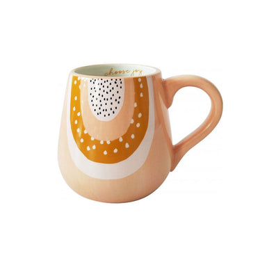 Urban Products Woodstock Rainbow Dot Mug - Choose Joy | Koop.co.nz