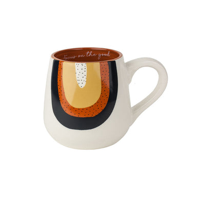 Urban Products Woodstock Rainbow Geo Mug - Focus On The Good | Koop.co.nz