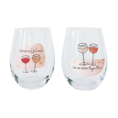 Urban Products Stemless Wine Glass Set - Partners In Wine | Koop.co.nz