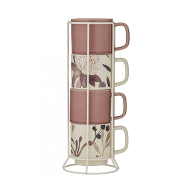 Amalfi Mischa Mug Set & Rack | Koop.co.nz