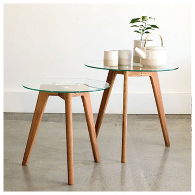 NED Collections Cindy Oak Nesting Table Set | Koop.co.nz