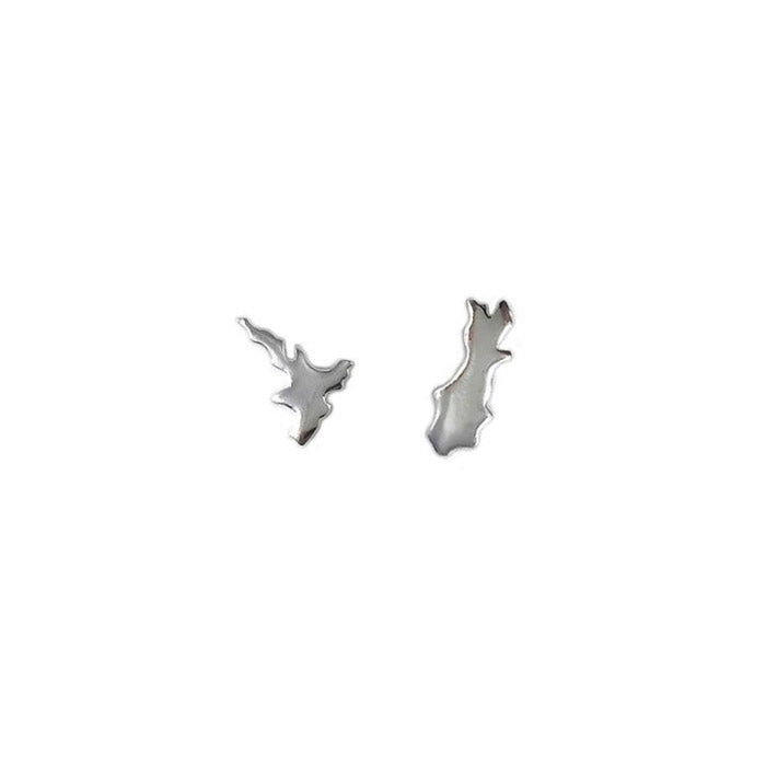 Sterling North & South Silver Stud Earrings | Koop.co.nz