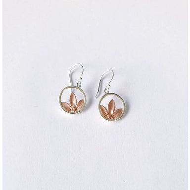Sterling Peeping Rose Gold Flower Earrings | Koop.co.nz