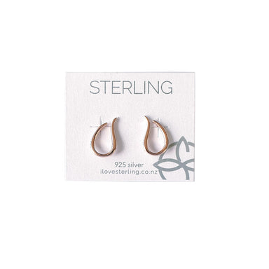 Sterling Flame Rose Gold Earrings | Koop.co.nz