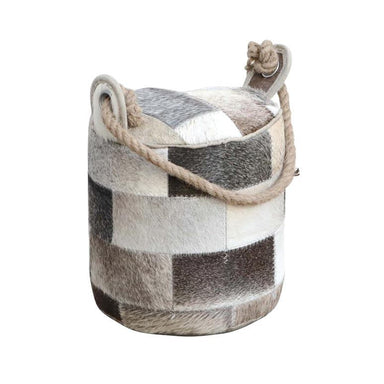 Rembrandt Fine Arts Goat Hide Patchwork Door Stop - Round | Koop.co.nz