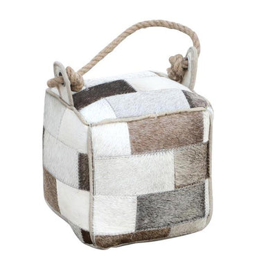 Rembrandt Fine Arts Goat Hide Patchwork Door Stop - Square | Koop.co.nz