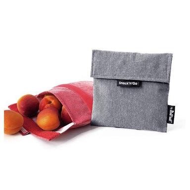 Roll Eat Snack & Go Reusable Snack Bag - Black | Koop.co.nz