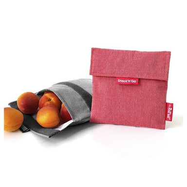 Roll Eat Snack & Go Reusable Snack Bag - Red | Koop.co.nz