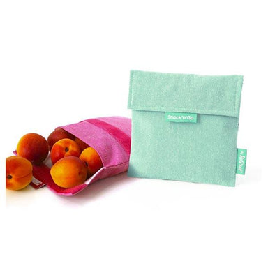 Roll Eat Snack & Go Reusable Snack Bag - Mint | Koop.co.nz