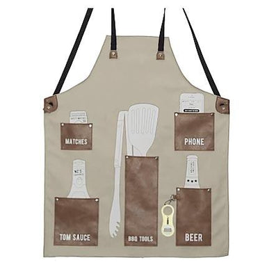 Moana Road Kiwi BBQ Apron With Bottle Opener - Tan | Koop.co.nz