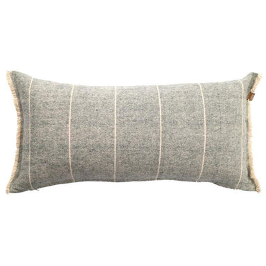 Raine & Humble Brushed Wild Stripe Cushion - Navy Blue | Koop.co.nz