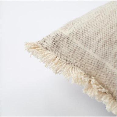 Raine & Humble Brushed Wild Stripe Cushion - Stone | Koop.co.nz