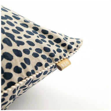 Raine & Humble Animal Print Cushion - Navy Blue (45cm) | Koop.co.nz