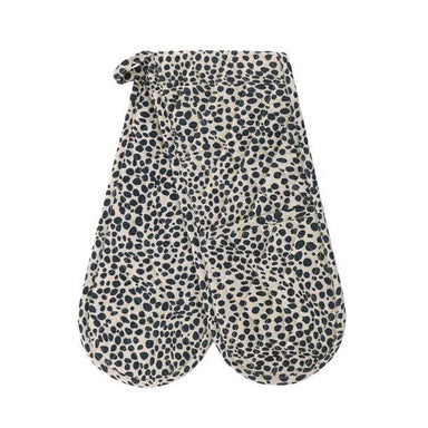 Raine & Humble Animal Print Double Oven Glove - Navy Blue | Koop.co.nz
