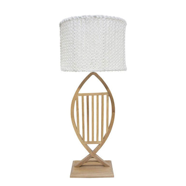 Stoneleigh & Roberson Aquis Wood & Knit Lamp (78cm) | Koop.co.nz
