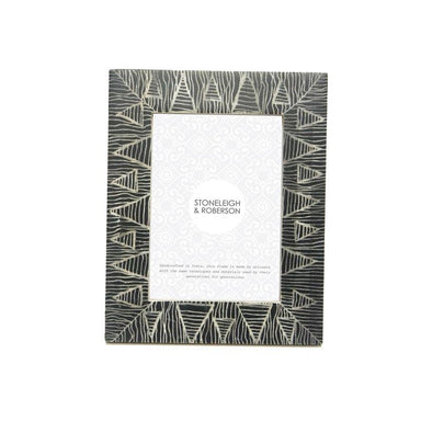 Stoneleigh & Roberson Ethnic Bone Photo Frame – 4x6"