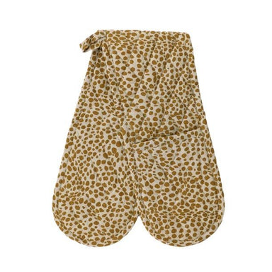 Raine & Humble Animal Print Double Oven Glove - Mustard | Koop.co.nz