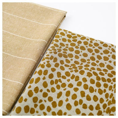 Raine & Humble Animal Print Tea Towel Pack - Mustard (2pc) | Koop.co.nz