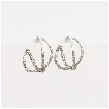 Stella & Gemma Lola Silver Hoop Earrings | Koop.co.nz