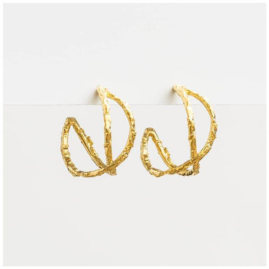 Stella & Gemma Lola Gold Hoop Earrings | Koop.co.nz