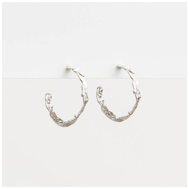 Stella & Gemma Kiara Silver Hoop Earrings | Koop.co.nz
