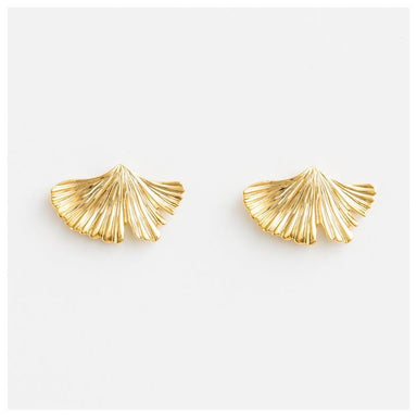 Stella & Gemma Gold Ginko Earrings | Koop.co.nz