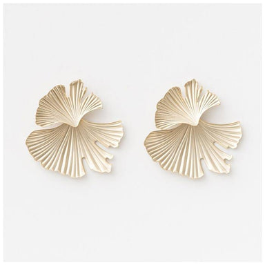 Stella & Gemma Reflection Fan Earrings - Pewter | Koop.co.nz