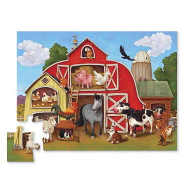 Crocodile Creek Barnyard Mini Puzzle (24pc) | Koop.co.nz