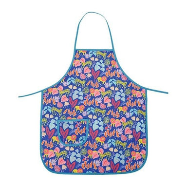 Annabel Trends Cotton Kids Apron - Big Cat Blue | Koop.co.nz