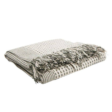 Stoneleigh & Roberson Army Green Cotton Throw | Koop.co.nz