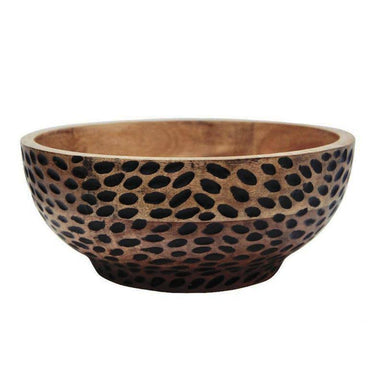 Stoneleigh & Roberson Dash Carved Wood Bowl (30.5cm) | Koop.co.nz