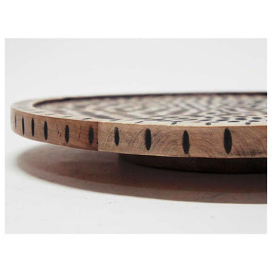 Stoneleigh & Roberson Dash Carved Wood Lazy Susan (40.5cm) | Koop.co.nz