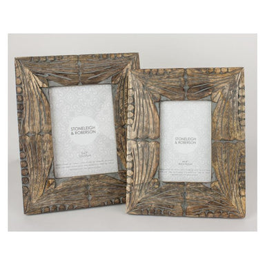 Stoneleigh & Roberson Miele Wood Carved Photo Frame – 5x7"