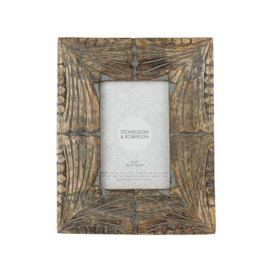 Stoneleigh & Roberson Miele Wood Carved Photo Frame – 4x6"