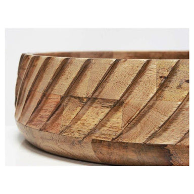 Banyan Home Leo Wood Carved Bowl - Large (30cm) | Koop.co.nz