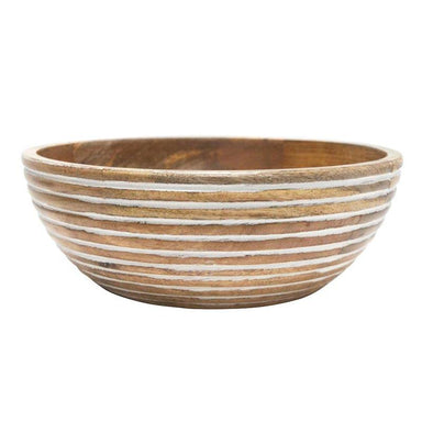 Banyan Home Ridge Wood Carved Bowl (30cm) | Koop.co.nz