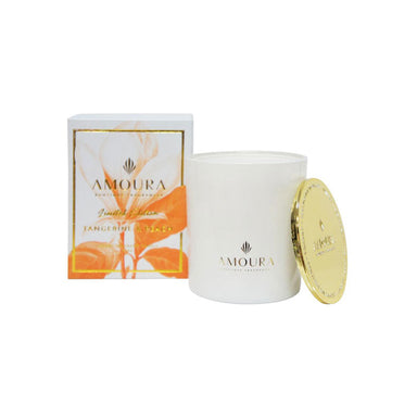 Amoura Luxury Fragrant Candle - Tangerine & Peach | Koop.co.nz