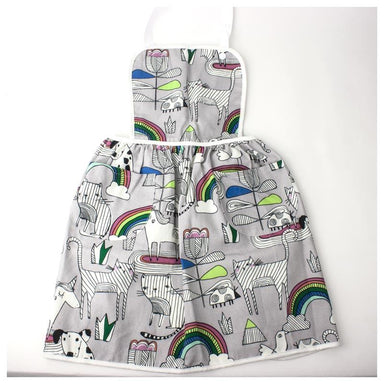 Elephant Ollie Retro Cotton Kids Apron – Cats & Rainbows | Koop.co.nz