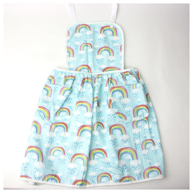 Elephant Ollie Retro Cotton Kids Apron – Blue Rainbow | Koop.co.nz