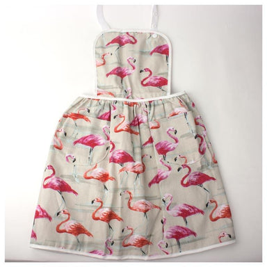 Elephant Ollie Retro Cotton Kids Apron – Flamingo | Koop.co.nz