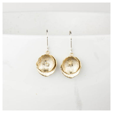 Twigg Matte Double Lily Earrings - Gold | Koop.co.nz