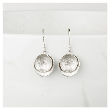 Twigg Matte Double Lily Earrings - Silver | Koop.co.nz