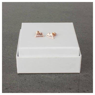 Twigg Alpine Rose Gold Stud Earrings | Koop.co.nz