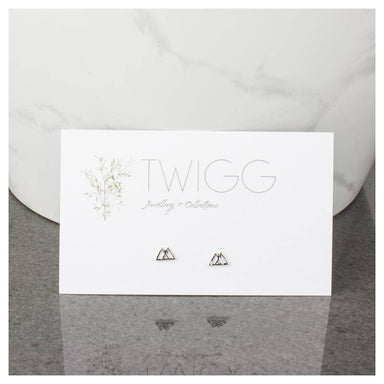 Twigg Mt Aspiring Silver Stud Earrings | Koop.co.nz