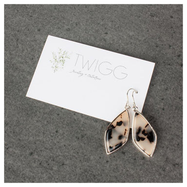 Twigg Gold Framed Light Tortoiseshell Earrings | Koop.co.nz