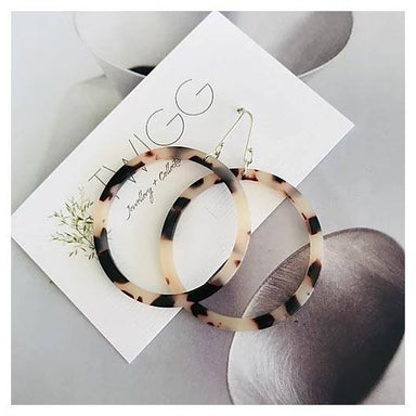 Twigg Light Tortoiseshell Hoop Earrings | Koop.co.nz